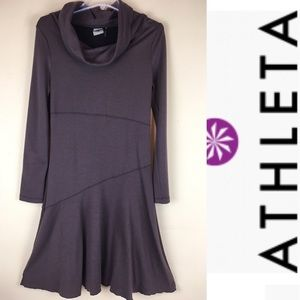 ATHLETA Italian Wool Blend CowlNeck Sweater Dress